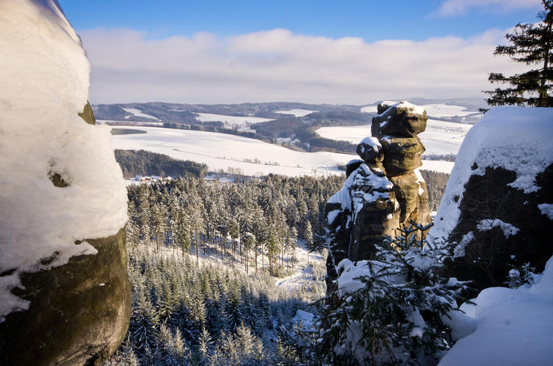 Rocks on Ostas mountain - Czech Republic royalty free stock photos