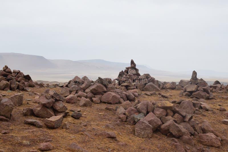 Peruvian desert rocks stock image