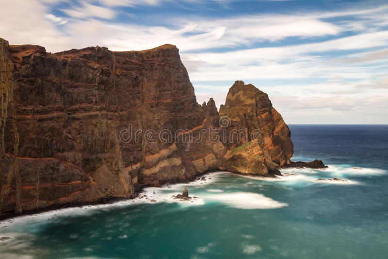 Rocks at Ponta de Sao Lourenco royalty free stock photo