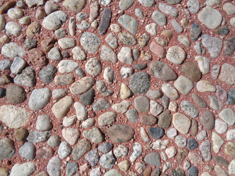 Rocks in Red Mortar - Texture Background royalty free stock photo