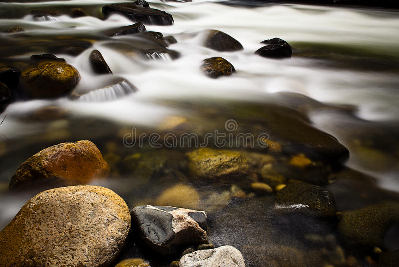 Rocks in River stock photography