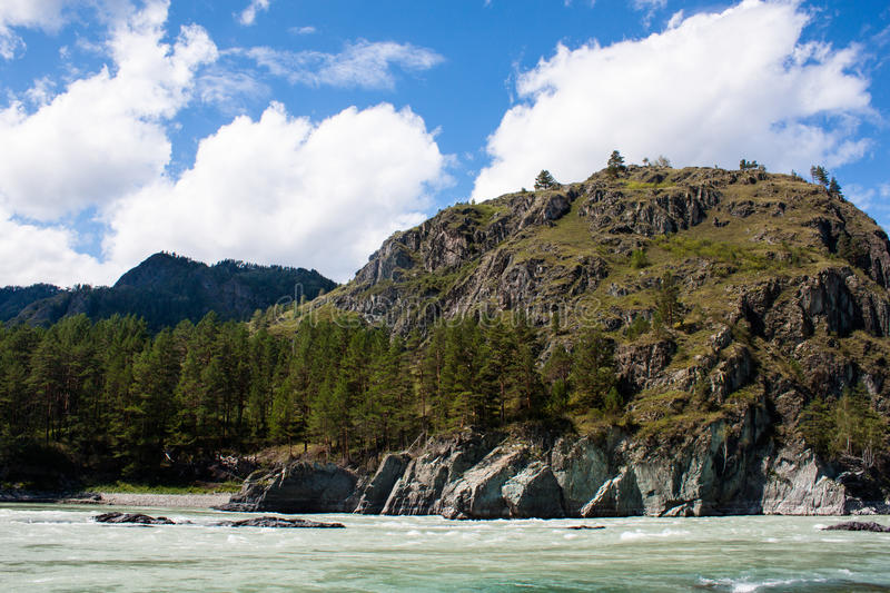 Rocks and river royalty free stock images