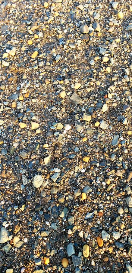 Rocks and Sand royalty free stock photo