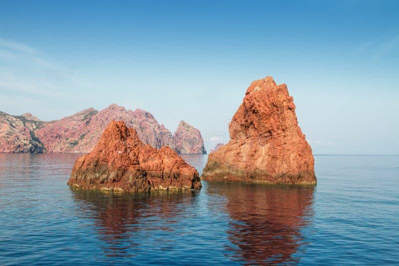 Scandola Nature Reserve, Corsica, France. Rocks of Scandola Nature Reserve, UNESCO World Heritage site, Corsica, France royalty free stock photo