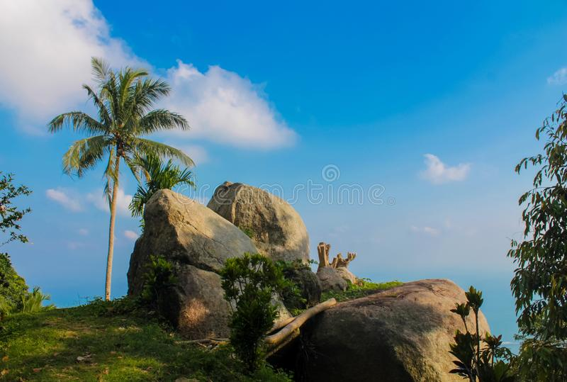 Rocks scenic landscape in Koh Samui, Lamai Beach. Koh Samui resort in Thailand Siam bay stock image