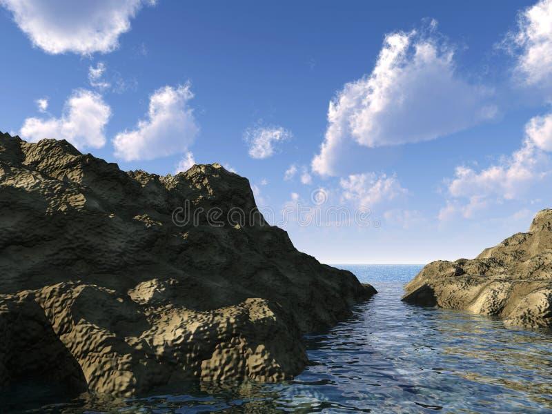 Download Rocks and the sea stock illustration. Image of coastline - 7179423