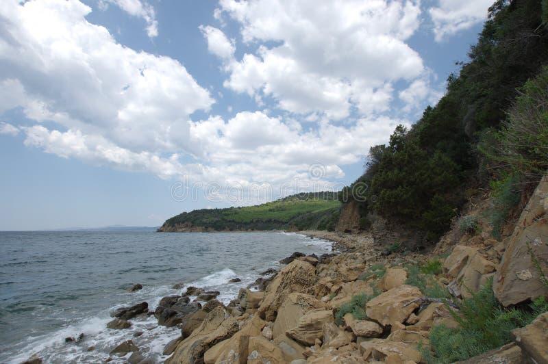 Rocks and sea stock image