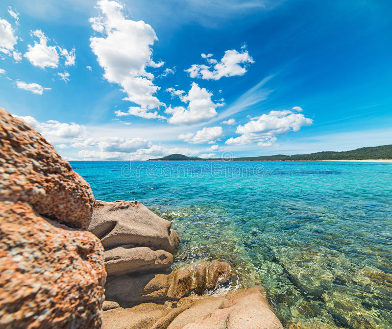 Rocks by the sea in Liscia Ruja. Sardinia stock images