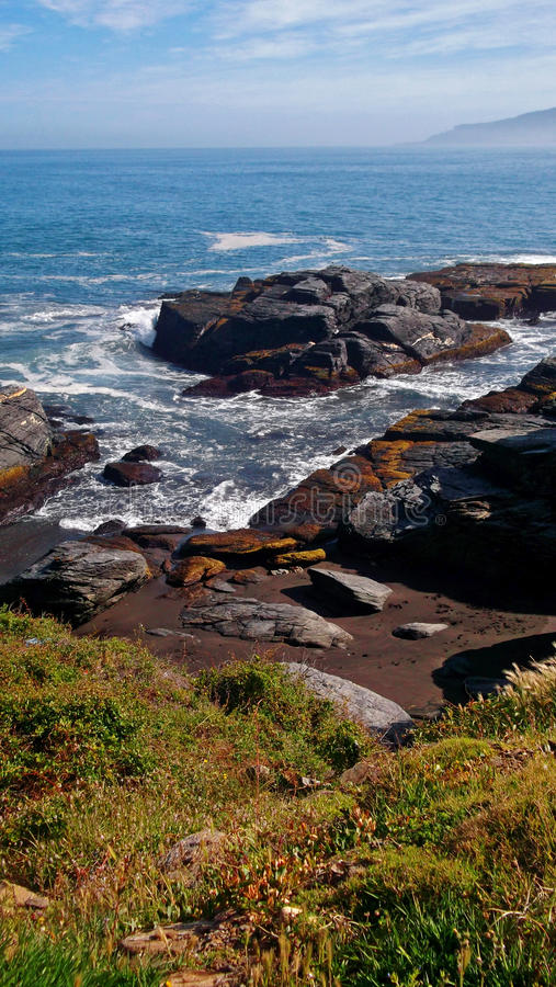 Rocks and sea stock photography