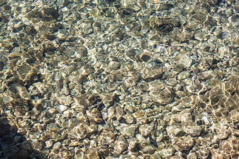 Rocks in sea water. stock photography