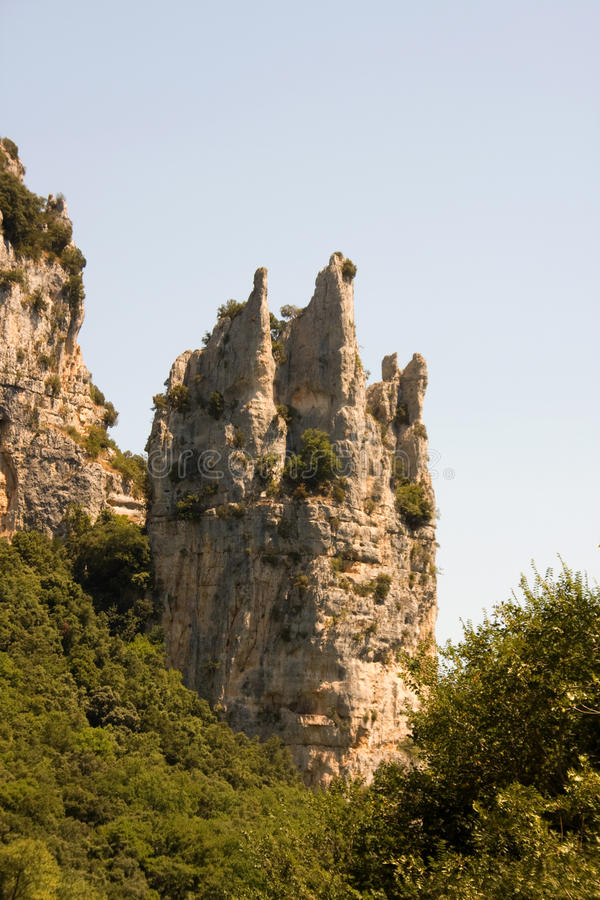 Rocks in the shape of Cathedral stock image