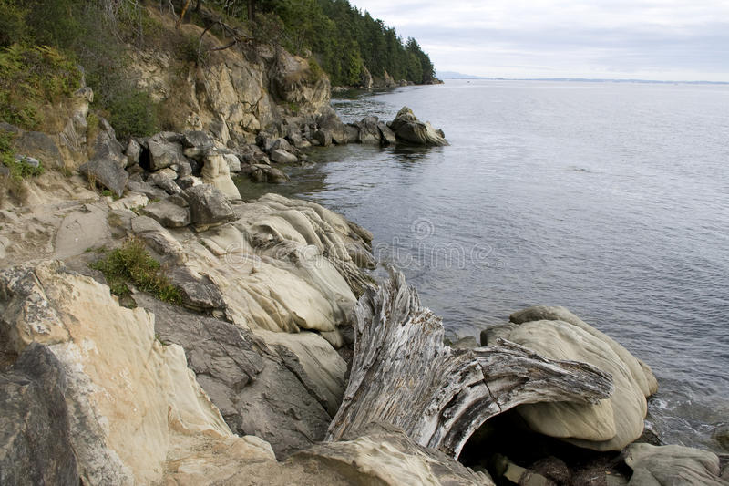 Rocks On Shoreline Stock Photo