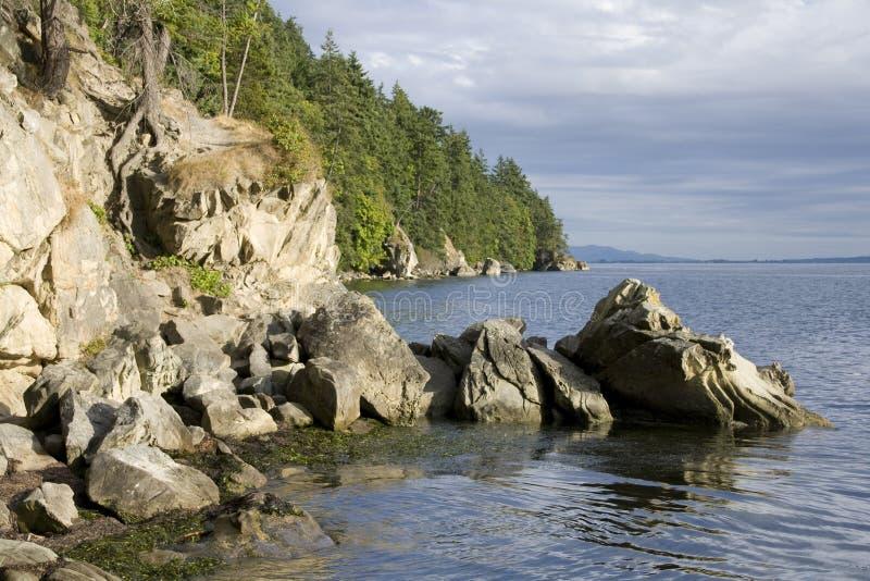 Download Rocks on shoreline stock photo. Image of larrabee, pacific - 33023160