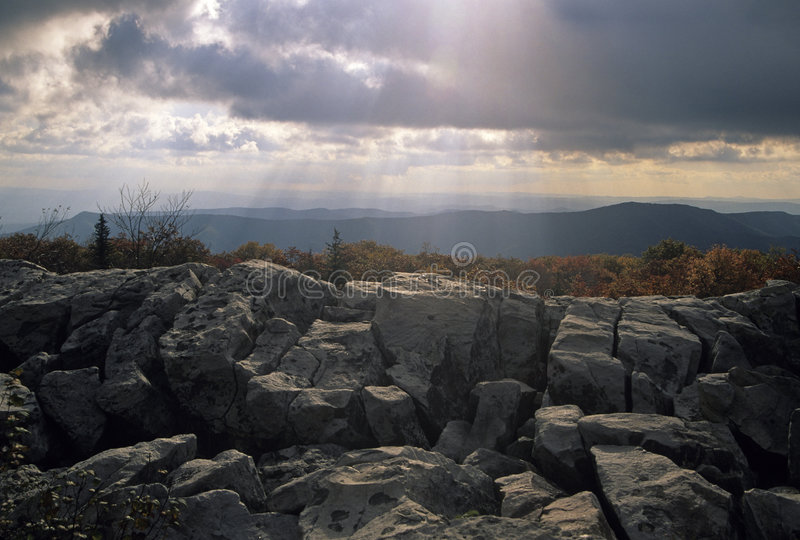 Rocks & Sky @ Dolly Sods stock image