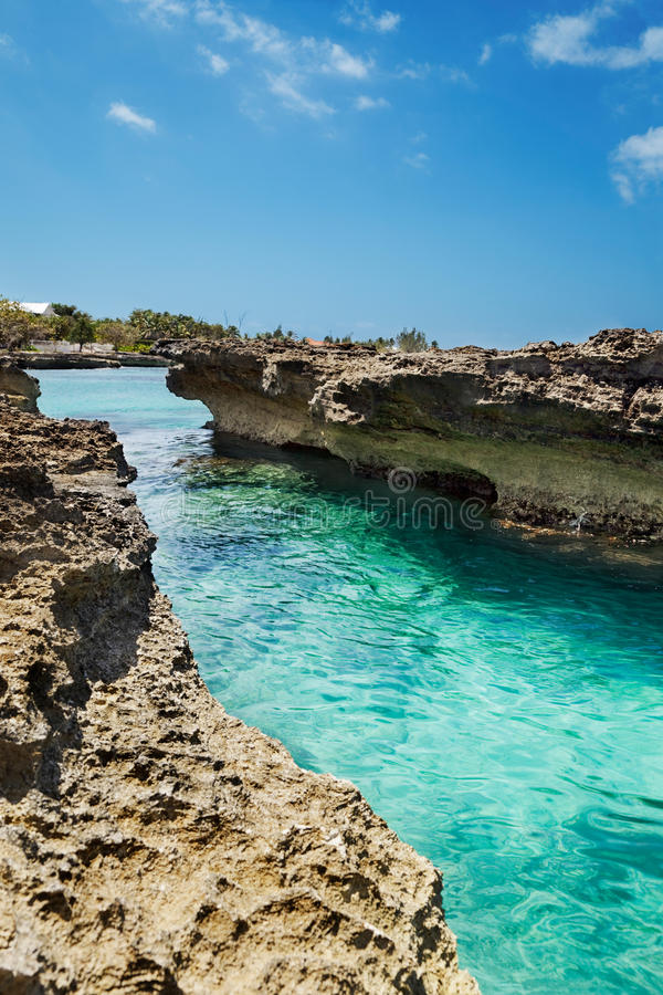 Rocks at Smith Cove Grand Cayman stock images