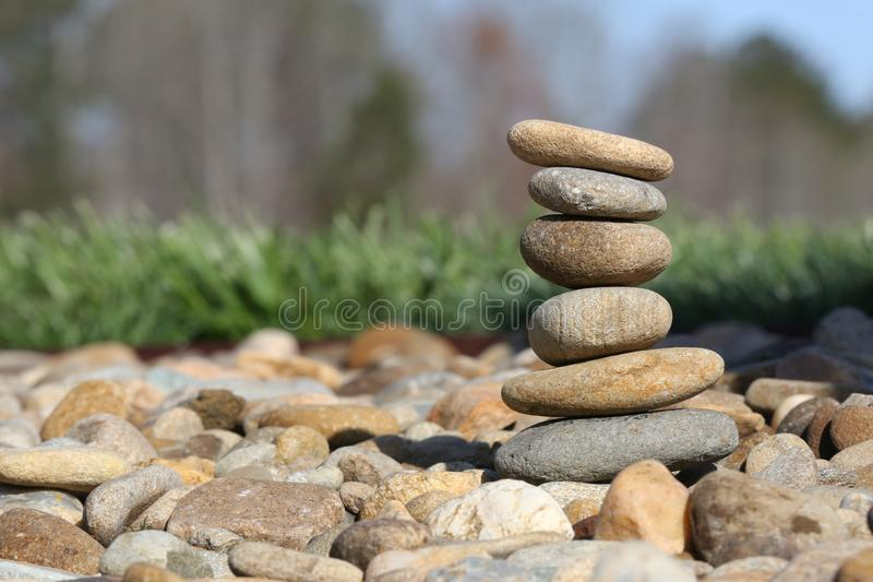 Rocks stacked up. Smooth rocks stacked up on top each other royalty free stock images