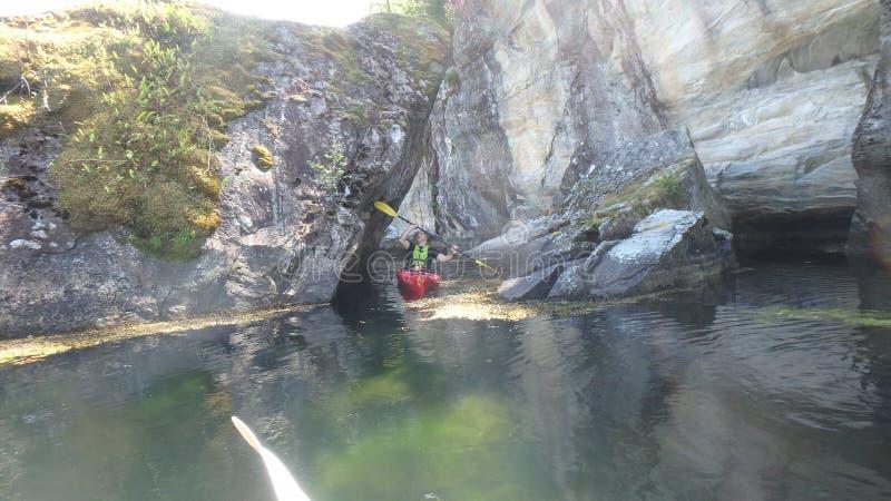 Among the rocks - between stones - west Norway - Leknes stock images