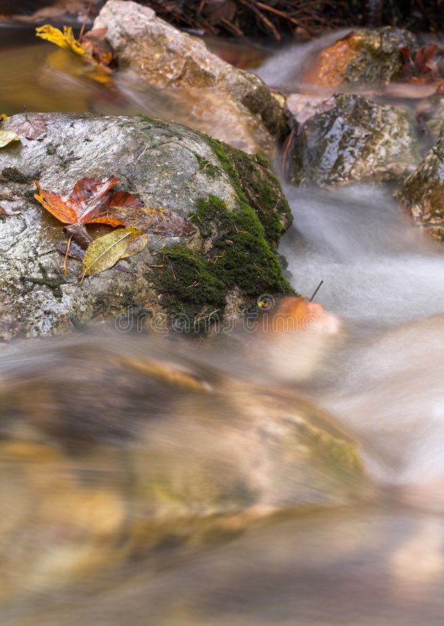 Rocks in a stream stock images