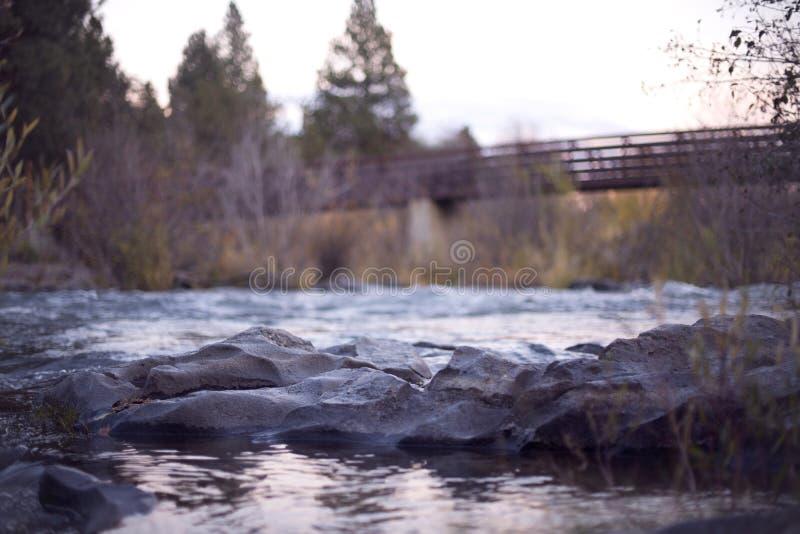 Rocks In Stream By Bridge Free Public Domain Cc0 Image