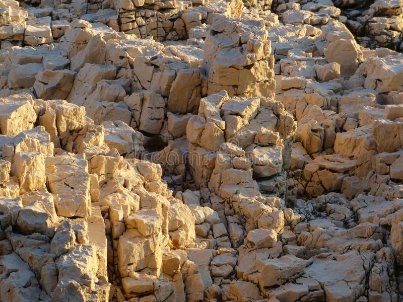 Rocks in the sunlight stock photos