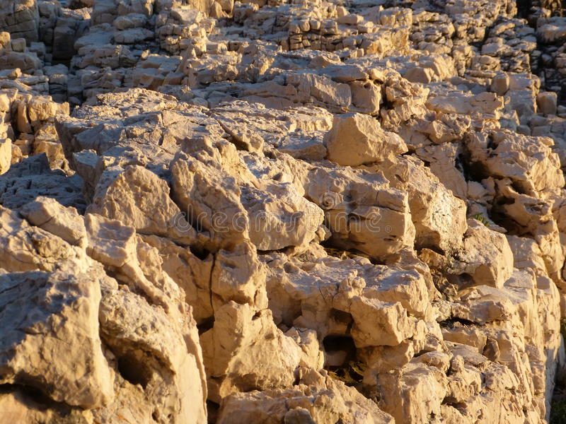 Rocks in the sunlight royalty free stock photos