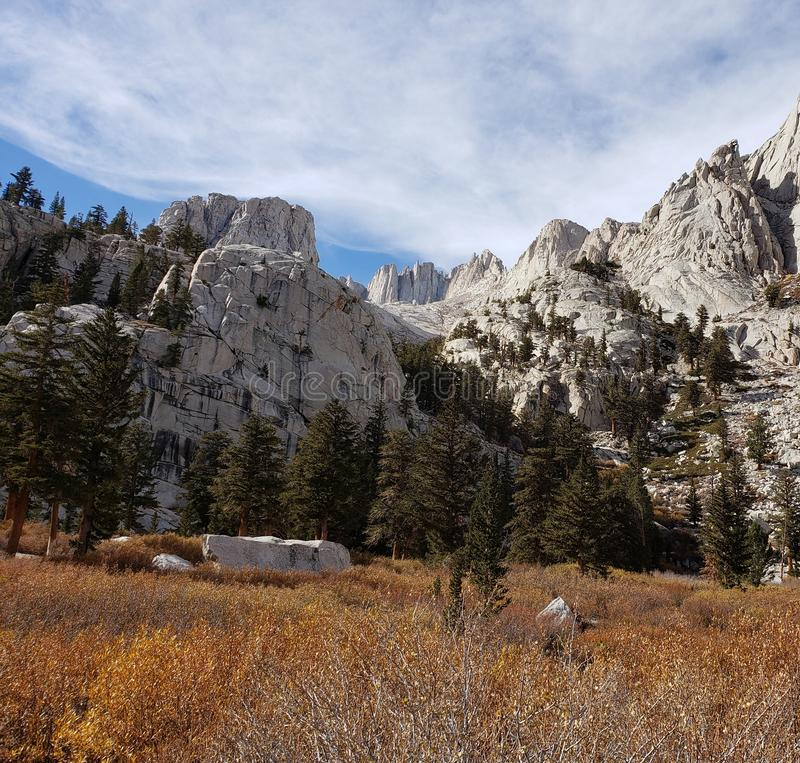 Outpost Camp Mt Whitney royalty free stock image