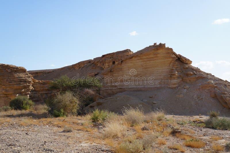Rocks view in Arava desert royalty free stock photo