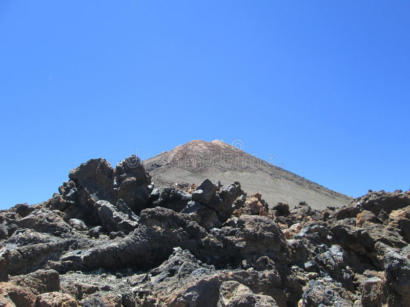 Rocks on the volcano el Teide, Tenerife stock photo