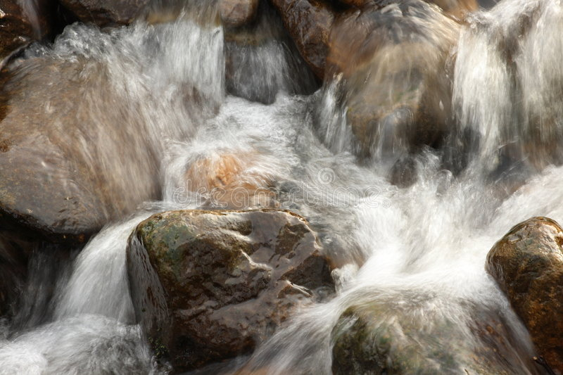 Rocks and water stock image