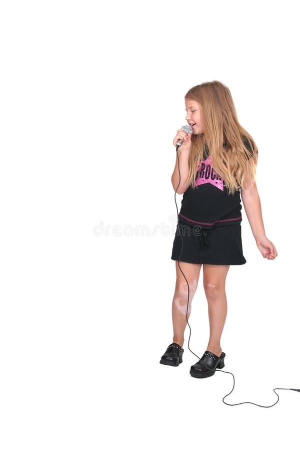 rockstar儿童的女性 免版税库存图片