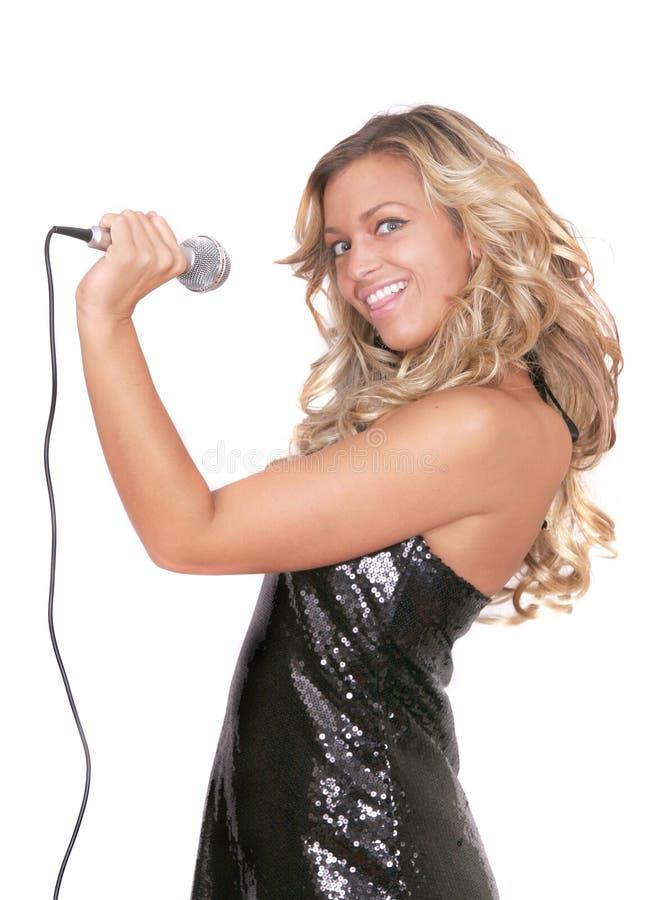 rockstar性感的妇女 免版税库存照片