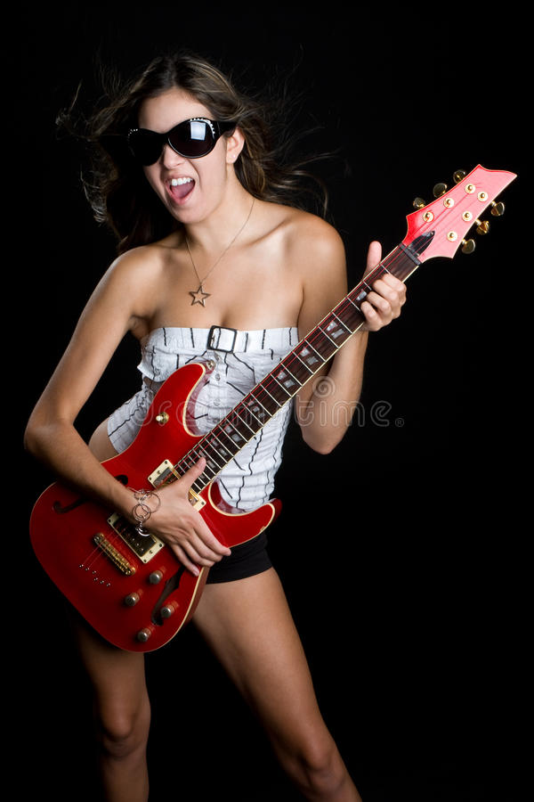 rockstar的女孩 免版税库存图片