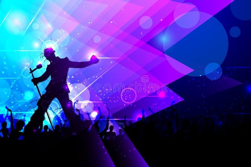 Rockstar, das im Musik-Konzert durchführt lizenzfreie abbildung