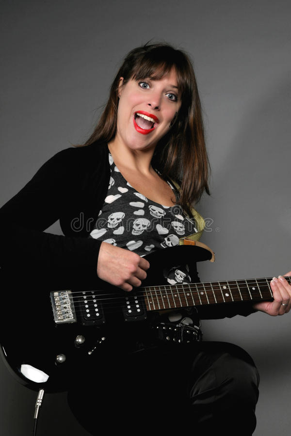 Rockstar vrouw royalty-vrije stock foto's