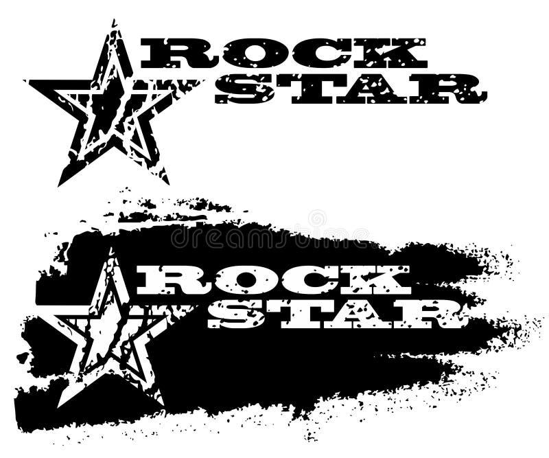 rockstjärna vektor illustrationer