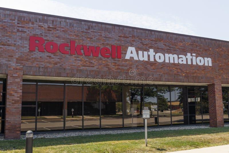 Rockwell Automation läge Rockwell Automation ger Allen-Bradley och Rockwell programvara I royaltyfri foto
