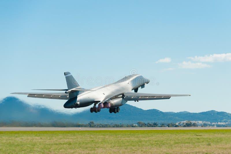 Rockwell B1 bombplan royaltyfria bilder