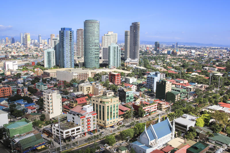 Rockwell linia horyzontu makati miasto Manila Philippines obraz stock