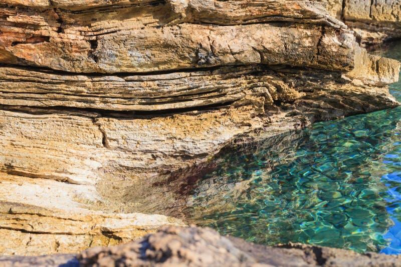 Rocky adriatic shore royalty free stock photo