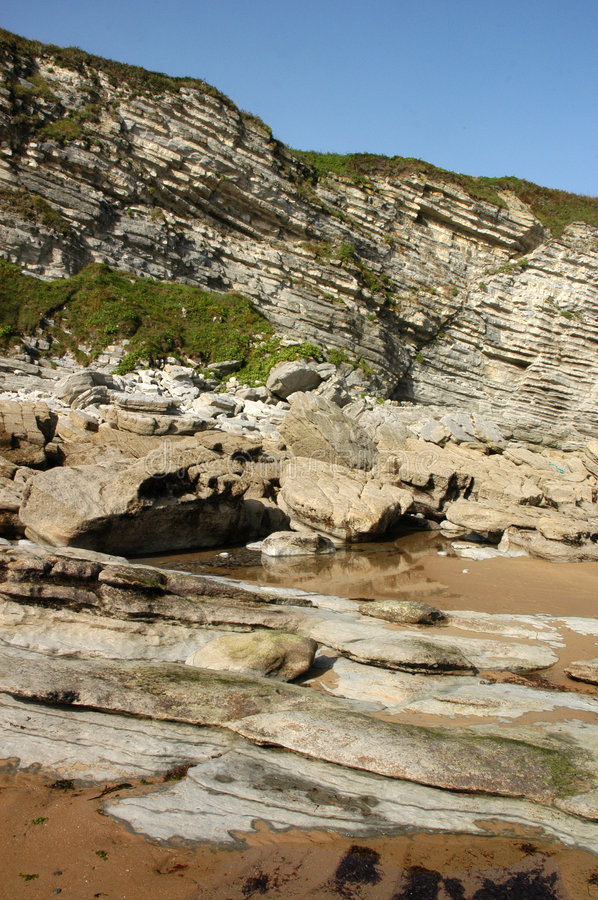 Rocky Beach And Cliffs Royalty Free Stock Images
