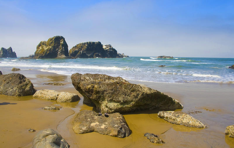 Rocky Beach, Ecola State Park Oregon, USA stock image