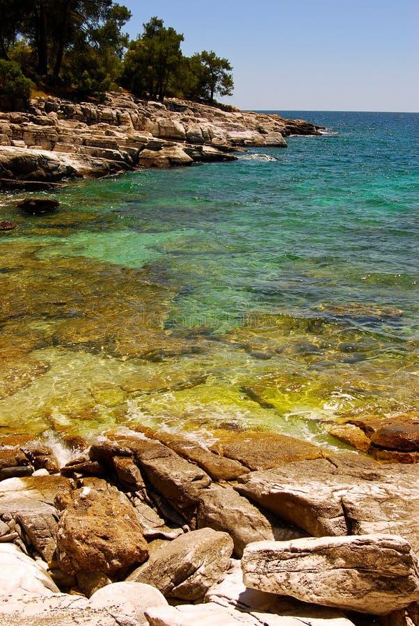 Rocky beach in Greece