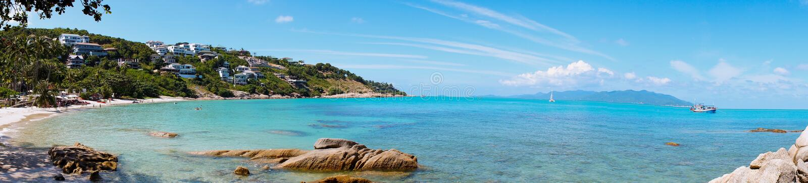 Rocky beach in Koh Samui, Thailand royalty free stock image