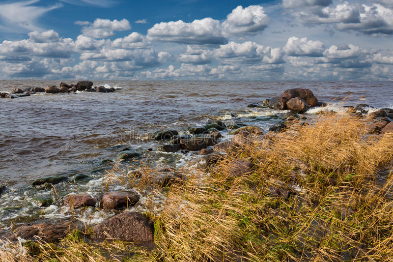 Rocky beach. royalty free stock images