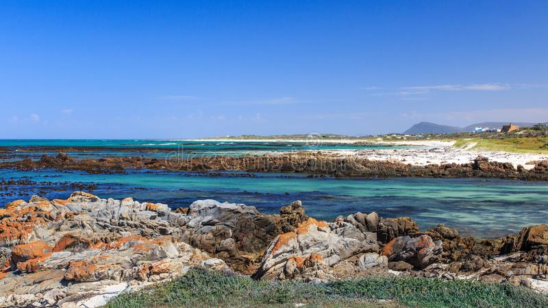 A rocky beach - Pearly beach - South Africa royalty free stock photo