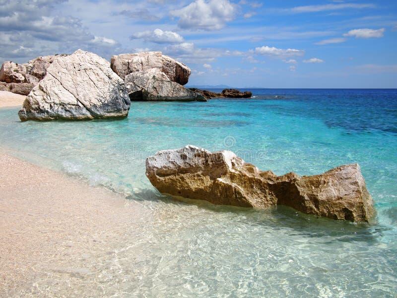 Rocky beach in Sardinia royalty free stock photography
