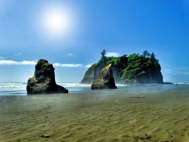 Rocky Beach Shoreline du nord-ouest Pacifique image libre de droits