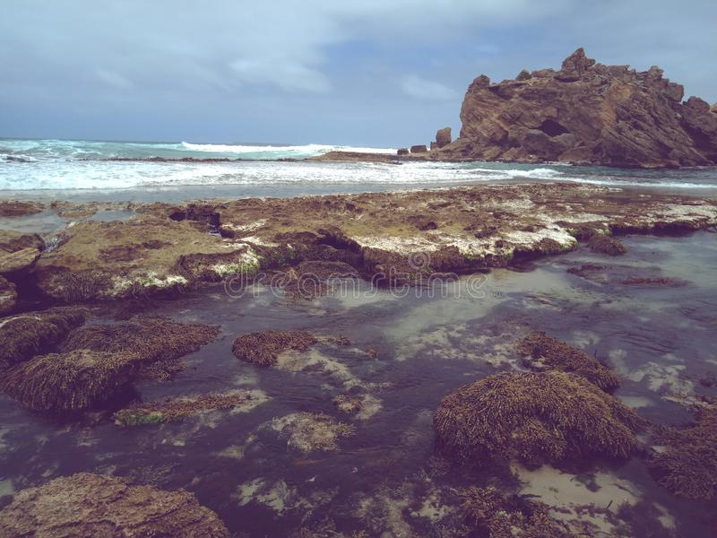 Rocky beach vibes royalty free stock images