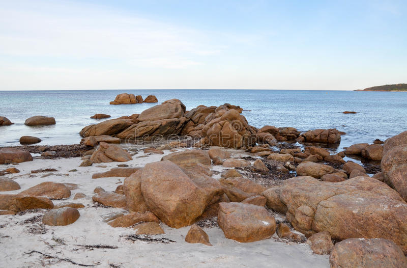 Rocky Bunker Bay: Austrália Ocidental fotografia de stock royalty free