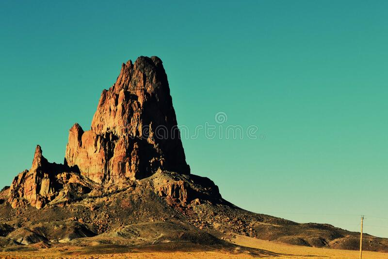 Rocky butte, Utah stock images